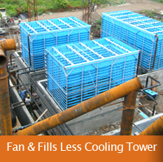 Fan Less Cooling Tower, Fills Less Cooling Towers